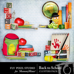 Back To School Clusters-$1.99 (Fly Pixel Studio)
