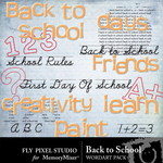 Back To School FPS WordArt-$2.49 (Fly Pixel Studio)