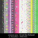 Cool for School Paper Pack-$3.49 (Lindsay Jane)