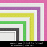 Cool for School Embossed Paper Pack-$1.99 (Lindsay Jane)