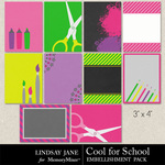 Cool for School Journal Cards-$1.99 (Lindsay Jane)