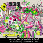 Cool for School Embellishment Pack-$3.49 (Lindsay Jane)