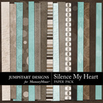 Silence My Heart Paper Pack-$3.49 (Jumpstart Designs)