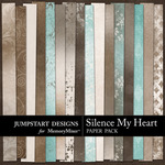 Silence My Heart Add On Paper Pack-$3.49 (Jumpstart Designs)