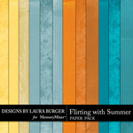 Flirting with Summer Solid Paper Pack-$3.49 (Laura Burger)