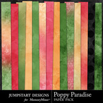 Poppy Paradise Paper Pack-$3.49 (Jumpstart Designs)
