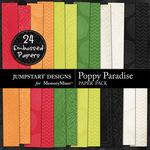 Poppy Paradise Embossed Paper Pack-$3.49 (Jumpstart Designs)