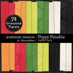 Poppy Paradise Embossed Paper Pack-$3.49 (Jumpstart Designs)