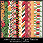 Poppy Paradise Pattern Paper Pack-$3.49 (Jumpstart Designs)