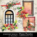 Poppy Paradise Clusters-$2.49 (Jumpstart Designs)