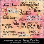 Poppy Paradise WordArt-$3.99 (Jumpstart Designs)