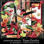 Poppy Paradise Add On Embellishment Pack-$3.49 (Jumpstart Designs)