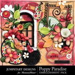 Poppy Paradise Embellishment Pack-$3.49 (Jumpstart Designs)