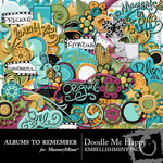 Doodle Me Happy Embellishment Pack-$2.99 (Albums to Remember)