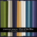 Out of the Blue Plain Paper Pack-$3.49 (Jumpstart Designs)