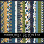 Out of the Blue Pattern Paper Pack-$3.49 (Jumpstart Designs)