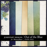 Out of the Blue Blended Paper Pack-$3.49 (Jumpstart Designs)