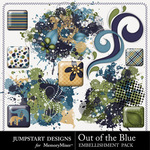 Out of the Blue Flairs-$2.49 (Jumpstart Designs)