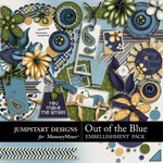 Out of the Blue Add On Embellishment Pack-$3.49 (Jumpstart Designs)
