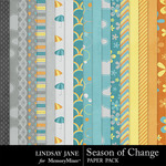 Season of Change Paper Pack-$3.45 (Lindsay Jane)