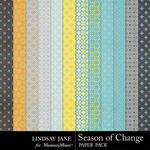 Season of Change Pattern Paper Pack-$1.99 (Lindsay Jane)
