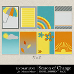 Season of Change Journal Cards-$1.99 (Lindsay Jane)