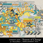 Season of Change Embellishment Pack-$3.49 (Lindsay Jane)
