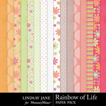 Rainbow of Life Paper Pack-$3.49 (Lindsay Jane)