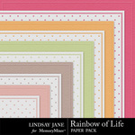 Rainbow of Life Embossed Paper Pack-$1.99 (Lindsay Jane)