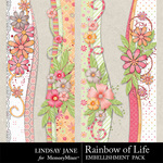 Rainbow of Life Borders-$1.99 (Lindsay Jane)