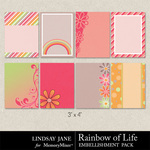 Rainbow of Life Journal Cards-$1.99 (Lindsay Jane)