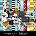 Back 2 School WAW Combo Pack-$5.29 (Word Art World)