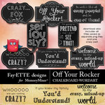 Off Your Rocker Chalkboard WordArt Pack-$2.49 (Fayette Designs)