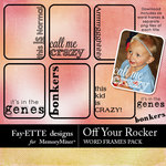 Off Your Rocker Word Frames Pack-$2.49 (Fayette Designs)