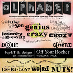 Off Your Rocker Word Art Pack-$3.49 (Fayette Designs)