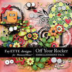 Off Your Rocker Embellishment Pack-$3.49 (Fayette Designs)