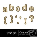 Creamy Cocoa Alphabet Pack-$0.99 (Paula Phillips)