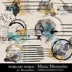 Music Memories Clusters Pack-$2.49 (Word Art World)
