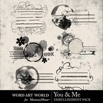 You and Me Cluster Pack-$2.49 (Word Art World)