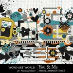You and Me WAW Embellishment Pack-$3.49 (Word Art World)