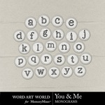 You and Me Alpha Pack-$1.49 (Word Art World)