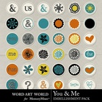 You and Me Flairs-$2.49 (Word Art World)