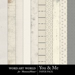 You and Me Neutral Paper Pack-$3.99 (Word Art World)