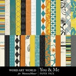 You and Me WAW Paper Pack-$3.99 (Word Art World)