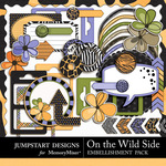 On the Wild Side Embellishment Pack-$3.99 (Jumpstart Designs)