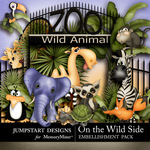 On the Wild Side WildLife-$1.75 (Jumpstart Designs)