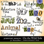 On the Wild Side WordArt-$3.49 (Jumpstart Designs)