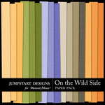 On the Wild Side Plain Paper Pack-$1.75 (Jumpstart Designs)