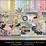 A Summer To Remember Combo Pack-$5.29 (Word Art World)