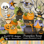Pumpkin Soup Embellishment Pack-$3.49 (Fayette Designs)